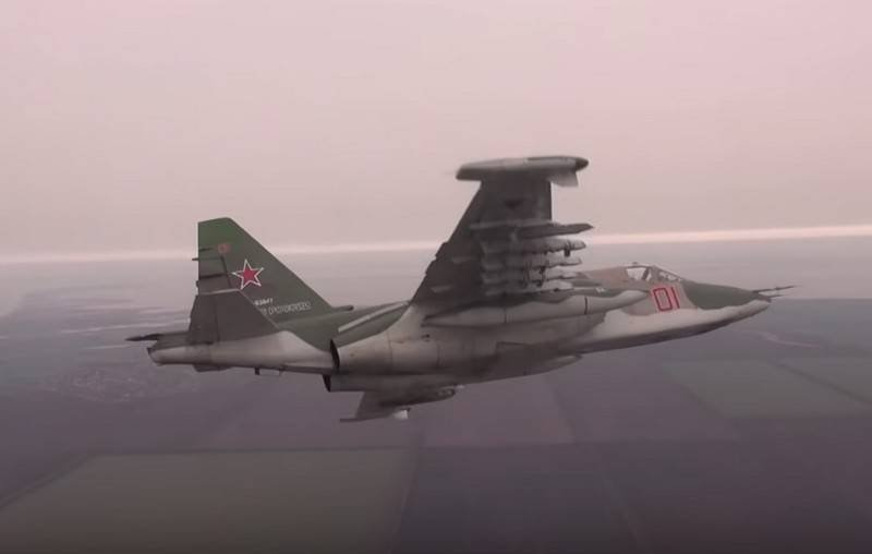The Ministry of Defense showed a video of combat shooting attack aircraft Su-25SM3