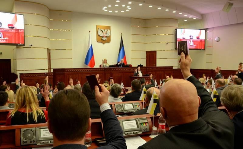 No DPR aprovou o idioma russo como o único estado