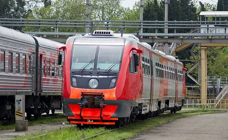 Regular passenger railways movement open between Anapa and Kerch