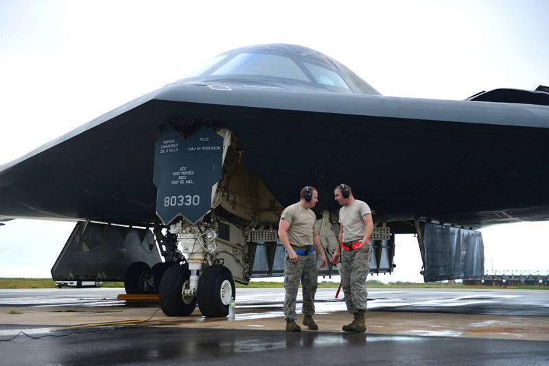 The USA has thrown B-2 Spirit bombers to Europe