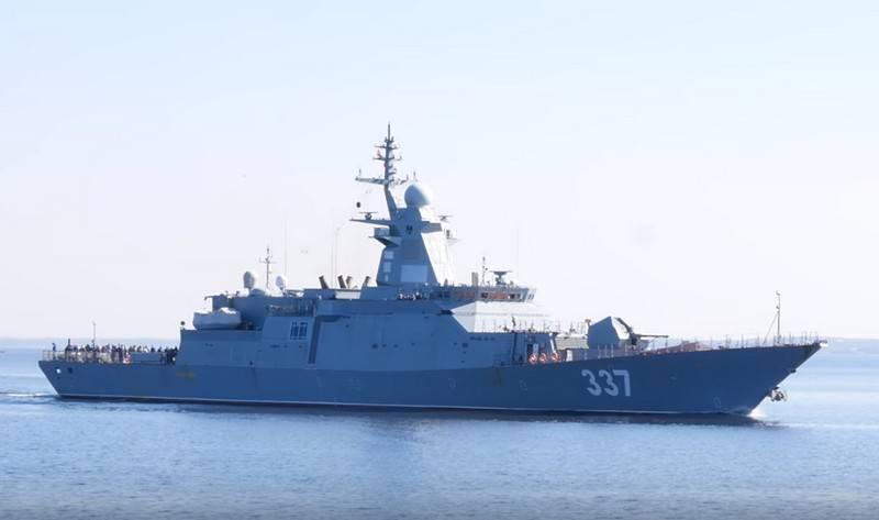 """No estaleiro Severnaya Verf anunciou planos para a transferência da corveta da Marinha Russa """"Thundering"""""""