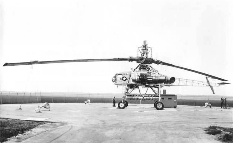 Helicóptero experimental Hughes XH-17. Registro com falha