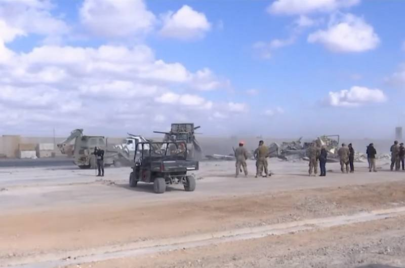The American base At-Tange in Iraq again underwent rocket fire
