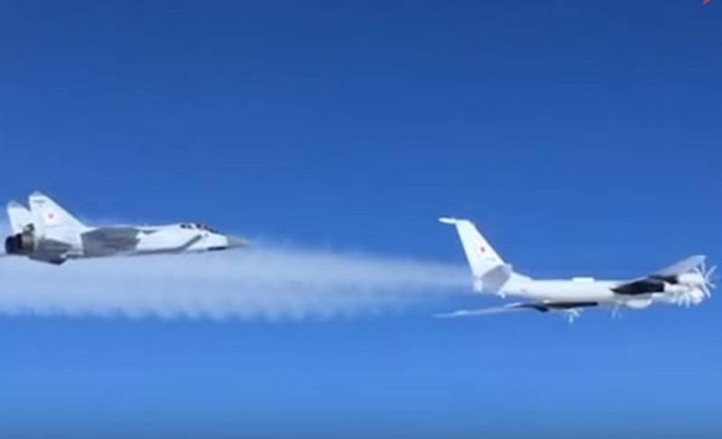 Russian anti-submarine Tu-142 spent a long flight near Alaska