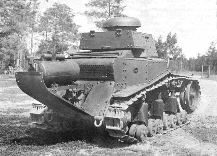 Soviet chemical tanks with a smoke device TDP-3