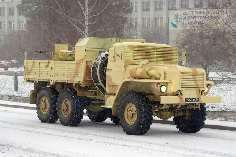 乌拉尔4320:枪支和装甲