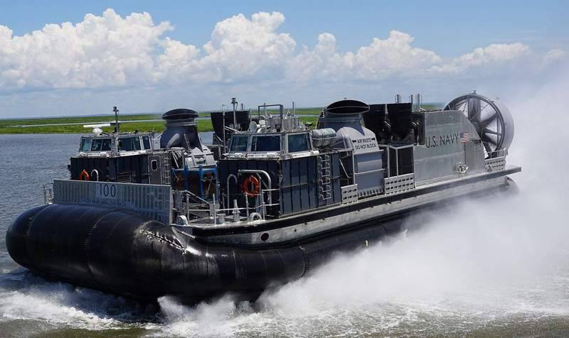 The US Navy received the lead DKVP SSC 100 (LCAC 100) of a new type of SSC