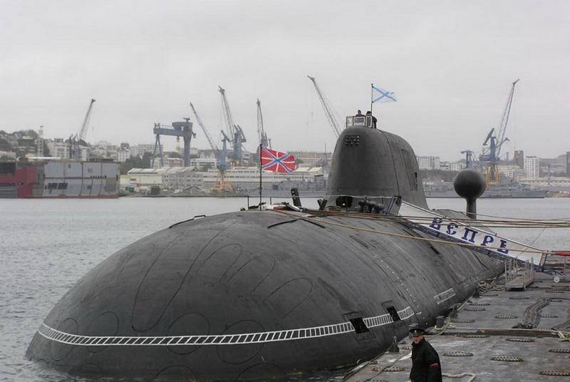 Vepr nuclear submarine of project 971 went for testing after repair