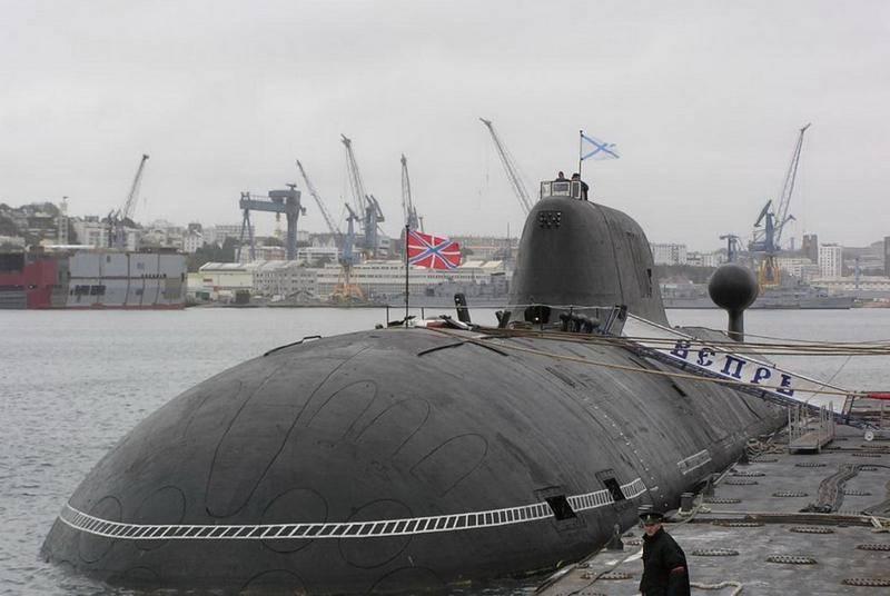 971号项目的Vepr核潜艇修复后进行测试