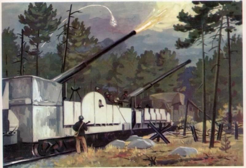 "Railway dreadnought. Armored train ""Baltiets"""