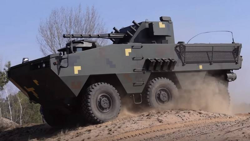 A video of testing a new Ukrainian armored personnel carrier appeared on the web
