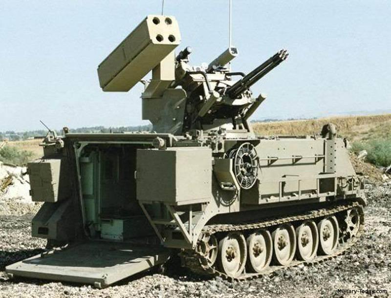 """防空导弹和枪支系统""""马赫贝特""""(以色列)"""