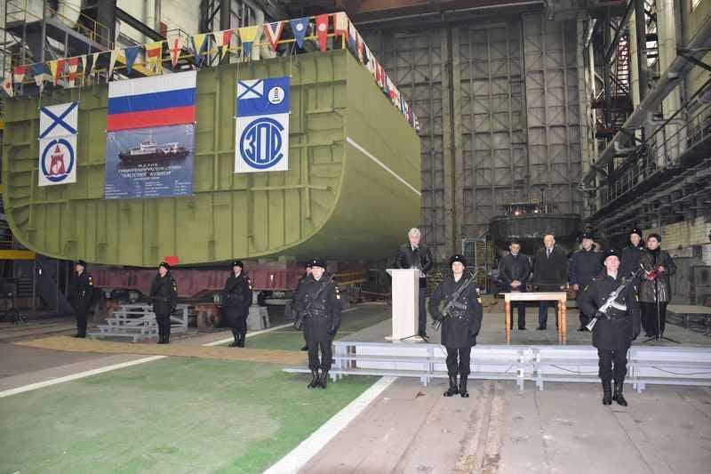 En Blagoveshchensk, se colocó el buque hidrográfico del proyecto 19910 para la Flota del Pacífico