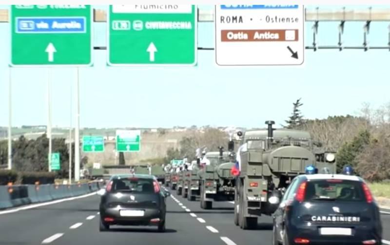 A força-tarefa do Ministério da Defesa da Federação Russa na Itália começou a trabalhar