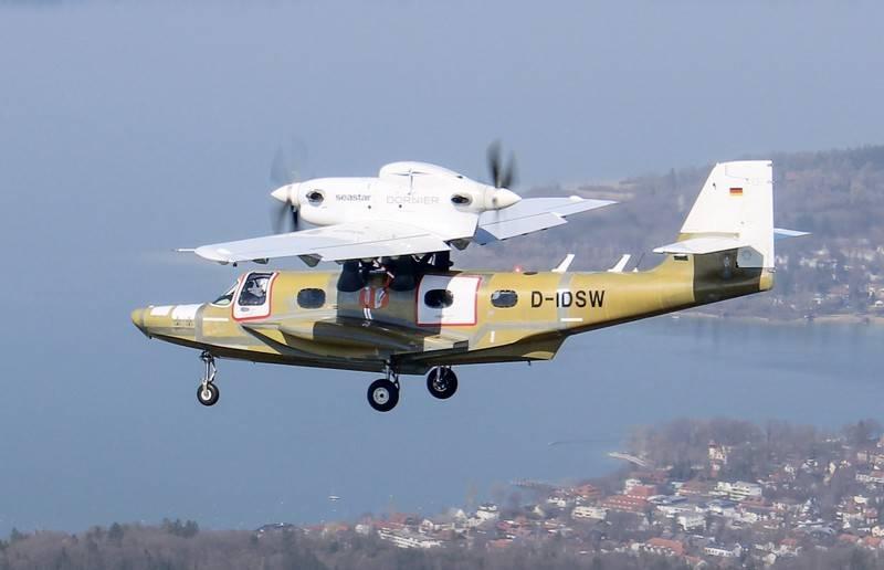 Das Amphibienflugzeug Dornier Seastar CD2 macht seinen ersten Flug in Deutschland