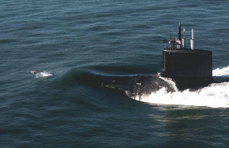 在美国投入运营的第十八艘核潜艇弗吉尼亚