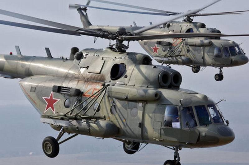 Ein Paar neuer Mi-8AMTSh-Hubschrauber wurde beim Southern Military District Aviation Regiment eingesetzt