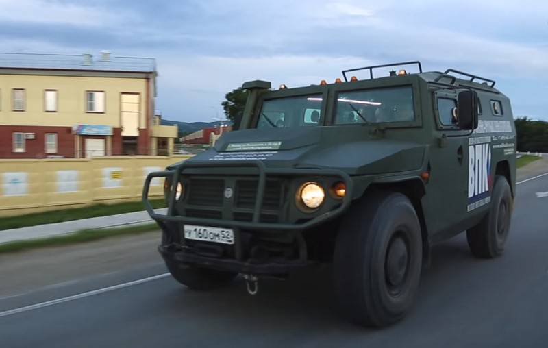 """In Russia, created an armored car """"Tiger"""" with protection against coronavirus"""
