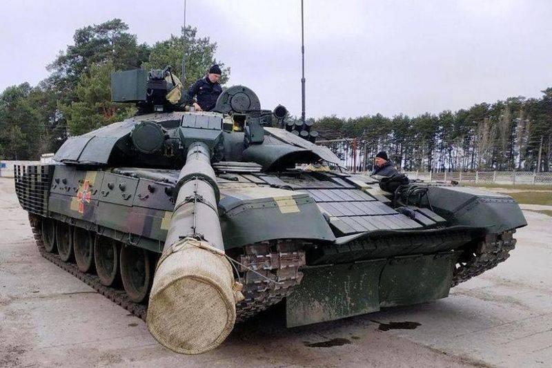 Début des tests du char modernisé T-72AMT en Ukraine
