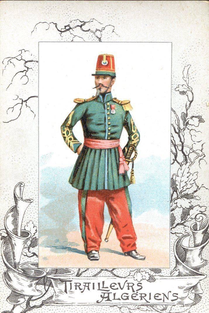 프랑스의 이국적인 군대. Tyiraliers