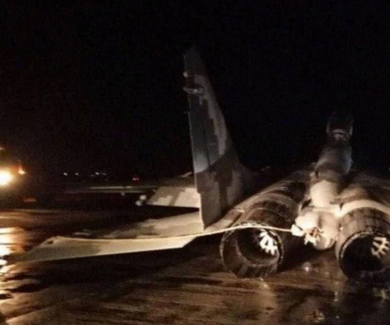 MiG-29 Air Force of Ukraine made an emergency landing in the Zaporozhye region