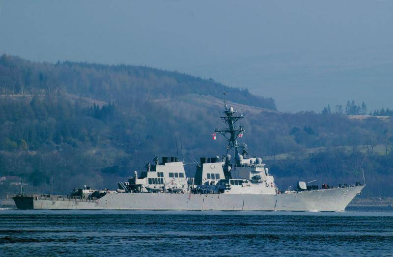 USS Porter DDG-78 URO destroyer enters the Black Sea