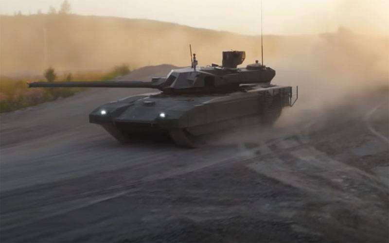 A video appeared on the Web with a hint of the superiority of the Abrams tank over the T-14 Armata for stabilization