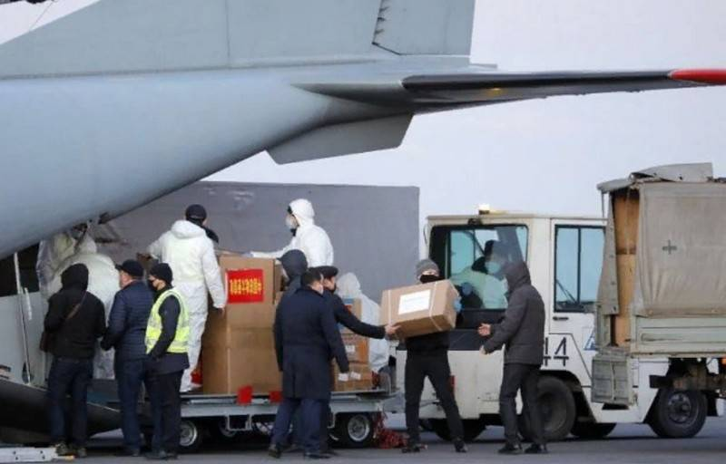 China sent aid to Moscow to fight against coronavirus
