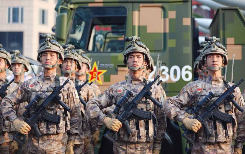 In China, tested the new machine QBZ-191 caliber 5,8 × 42 mm