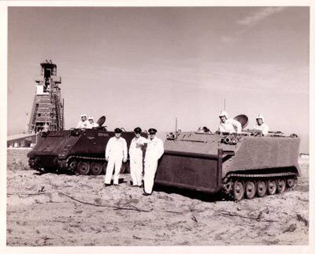 Armored personnel carrier for space. M113 at NASA