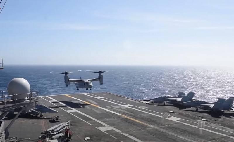 米海軍が射程についてCMV-22Bトランスポート転換飛行機をテスト