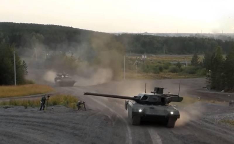 Suriye Arap Cumhuriyeti'ndeki T-14 Armata tankının testlerine göre