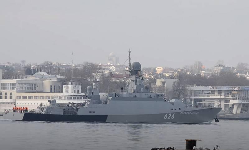 """Karadeniz Filosu RTO """"Orekhovo-Zuevo"""" Suriye kıyılarına gitti"""