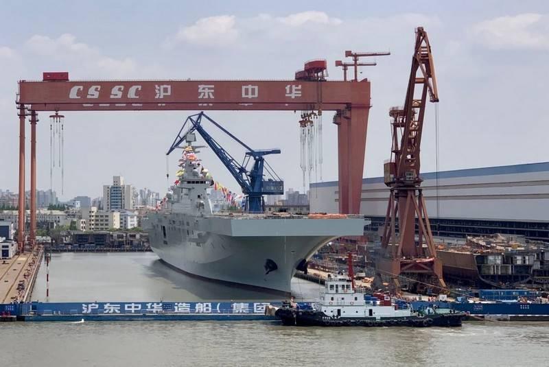 Progetto 075 seconda nave da sbarco universale lanciata in Cina
