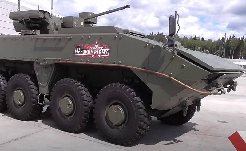 俄罗斯开始促进在Boomerang平台上的装甲车出口