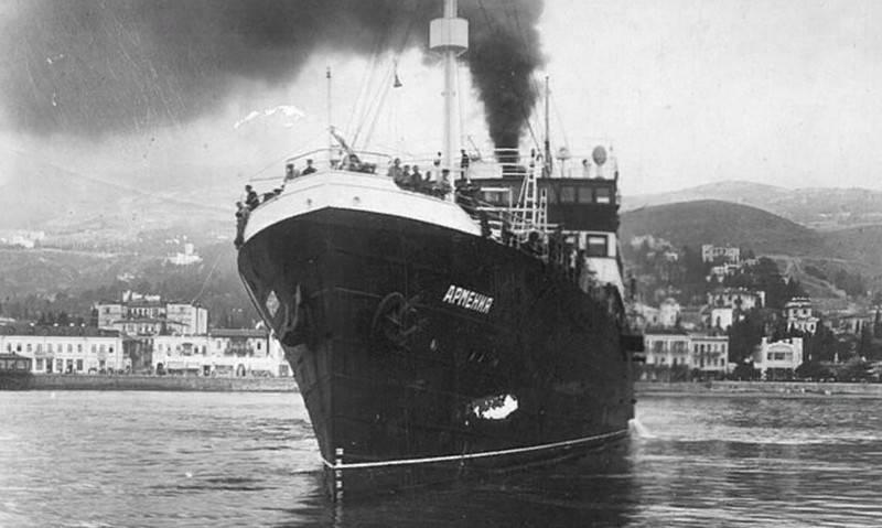 """Sıhhi gemi """"Ermenistan"""" faşistler tarafından batırıldı Kırım kıyılarında keşfedildi"""