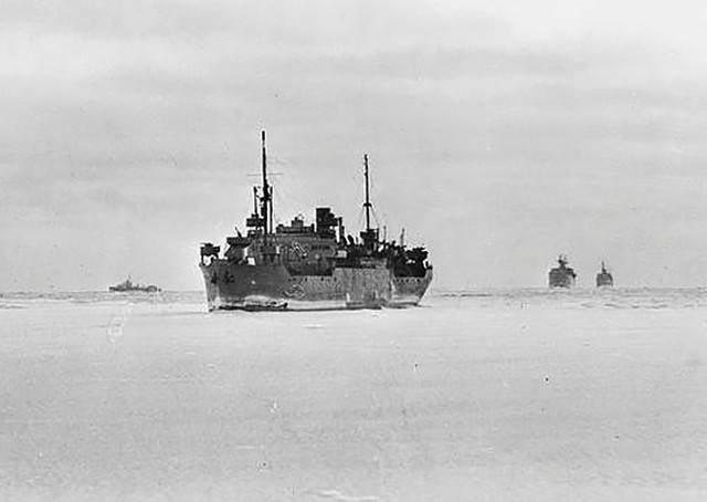 Activités de l'arrière de la flotte du Nord pour assurer les convois alliés