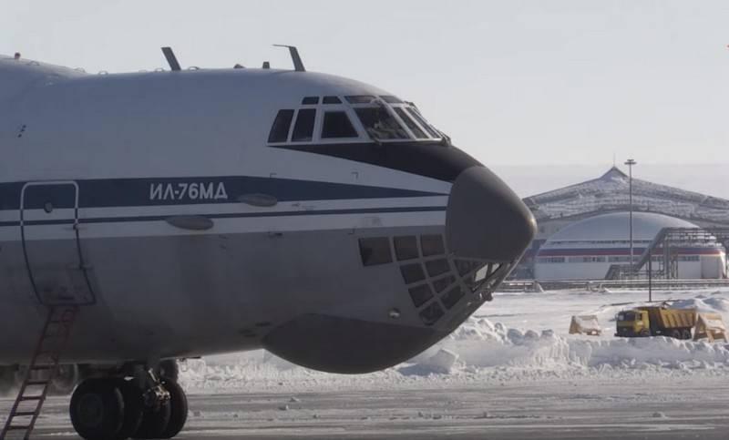 Das Flugplatz Nagurskaya auf der Insel Alexandra Land in der Arktis wurde zum Allwetter