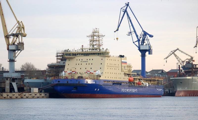 The preliminary deadlines for the delivery of the Viktor Chernomyrdin icebreaker became known