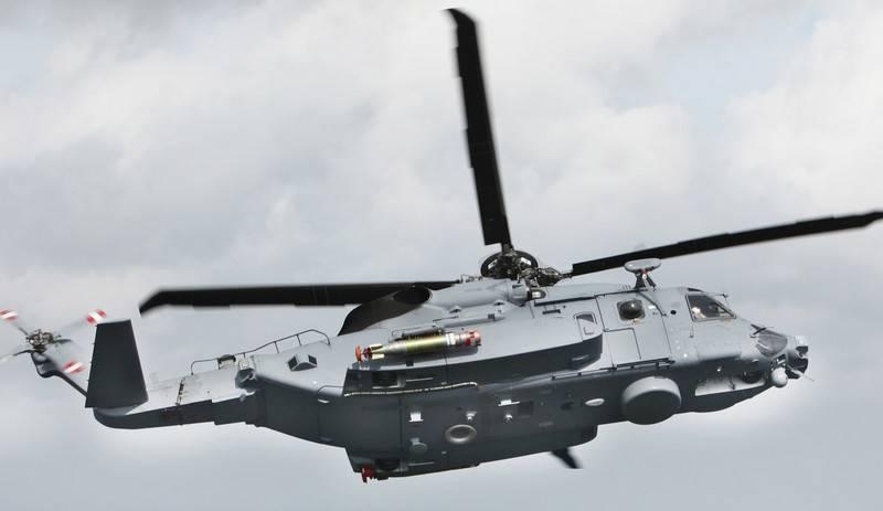 Acidente de helicóptero no convés da marinha canadense no mar Jónico