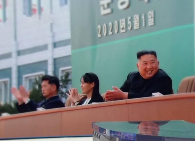 对西方和韩国媒体的回应:金正恩公开露面