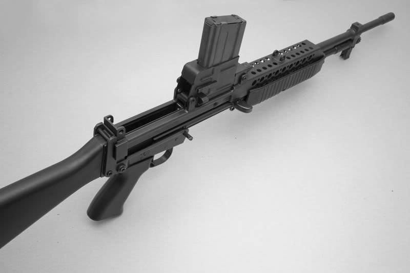 Stoner 63: development. M96 with tape and RobArm XCR