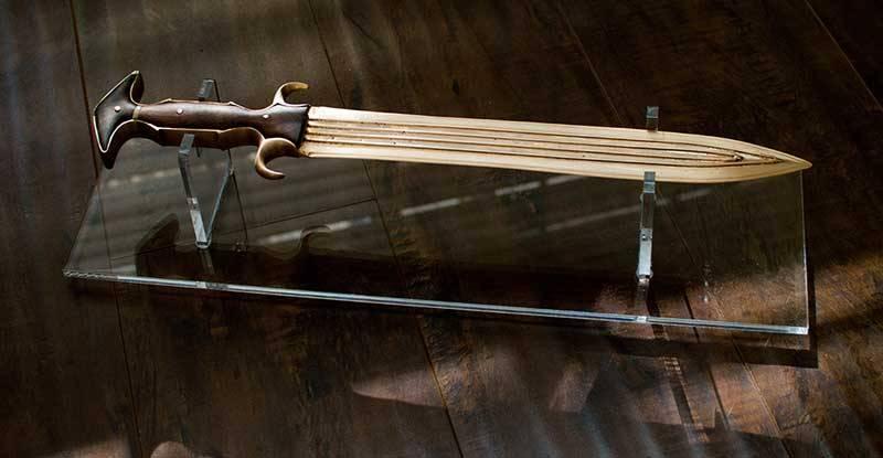 전투와 박물관의 청동 칼