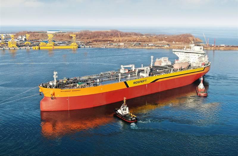 Der erste Tanker vom Typ Aframax wurde an der fernöstlichen SSK Zvezda gestartet