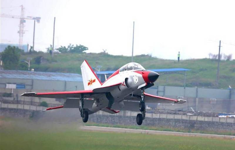 China began flight tests of the deck version of the JL-9G Sword Fish training aircraft