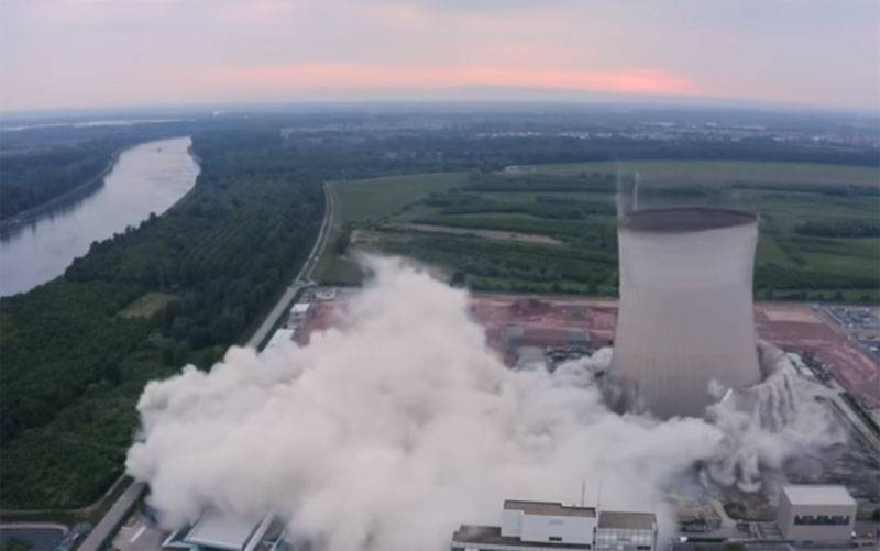 Germany showed a controlled disruption of the infrastructure of a previously shut down nuclear power plant
