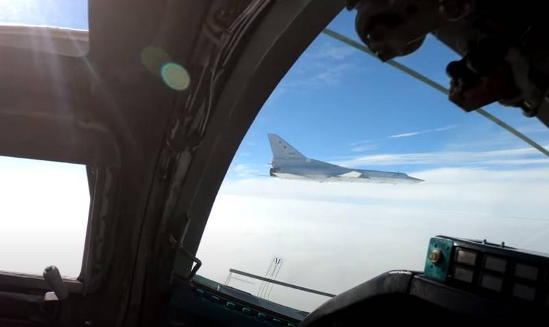A video of the flight of a Tu-22M3 pair over the Black Sea appeared on the Web