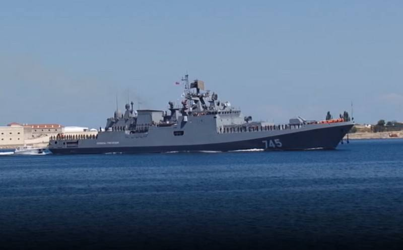 The frigate Admiral Grigorovich began the transition from the Mediterranean Sea to the Indian Ocean