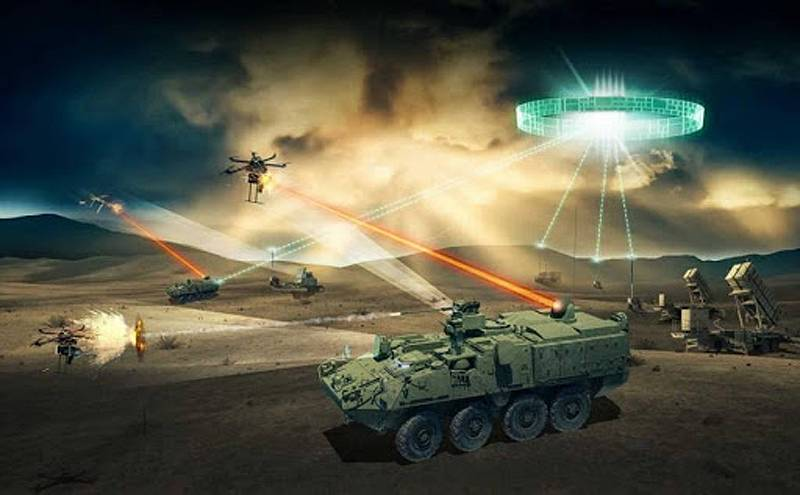 Light and partial shade in the way of Americans to laser weapons