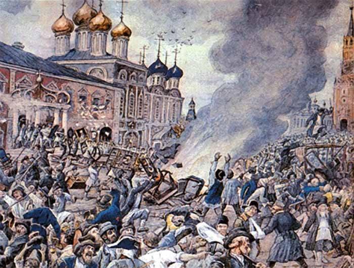 Como a praga causou um tumulto em Moscou
